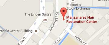 Hair Transplant Manila, Philippines by Manzanares Hair Restoration Center